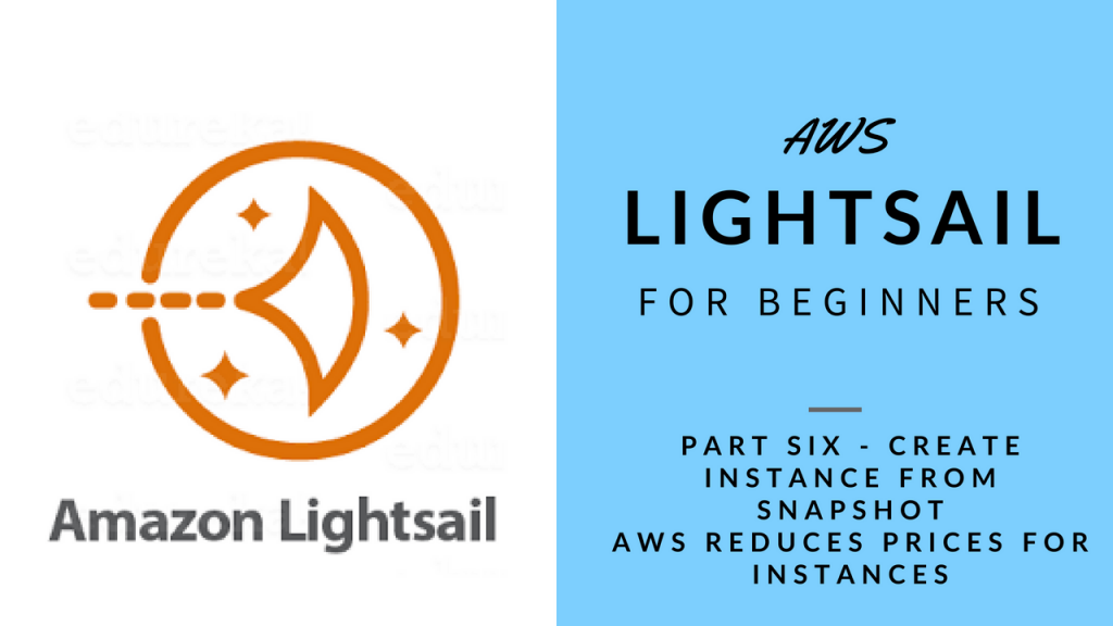 AWS Lightsail - Instance from Snaphot